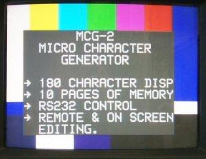MCG-2 Character Generator